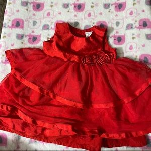 CARTER'S BEAUTIFUL RED DRESS FOR KIDS 9m